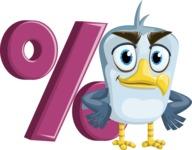 Seabird Cartoon Vector Character AKA Gulliver SeaBird - Percent
