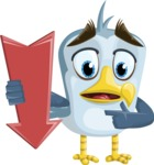 Seabird Cartoon Vector Character AKA Gulliver SeaBird - Pointer 2