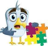 Seabird Cartoon Vector Character AKA Gulliver SeaBird - Puzzle