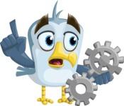 Seabird Cartoon Vector Character AKA Gulliver SeaBird - Gears