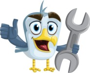 Seabird Cartoon Vector Character AKA Gulliver SeaBird - Repear