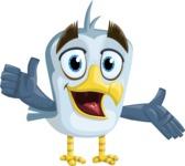 Seabird Cartoon Vector Character AKA Gulliver SeaBird - Show 2