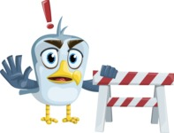 Seabird Cartoon Vector Character AKA Gulliver SeaBird - Construction 2