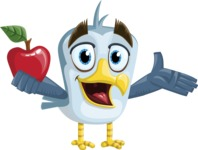 Seabird Cartoon Vector Character AKA Gulliver SeaBird - Apple