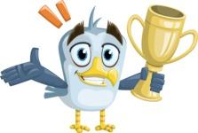 Seabird Cartoon Vector Character AKA Gulliver SeaBird - Trophy