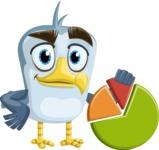 Seabird Cartoon Vector Character AKA Gulliver SeaBird - Chart