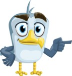 Seabird Cartoon Vector Character AKA Gulliver SeaBird - Point
