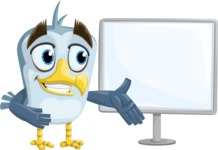 Seabird Cartoon Vector Character AKA Gulliver SeaBird - Presentation 2