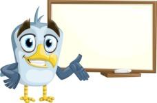 Seabird Cartoon Vector Character AKA Gulliver SeaBird - Presentation 3