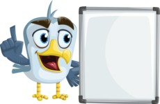 Seabird Cartoon Vector Character AKA Gulliver SeaBird - Presentation 4