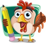 Rooster Cartoon Vector Character AKA Mr. Cock-a-Doodle-Doo - Shape 12
