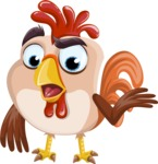 Rooster Cartoon Vector Character AKA Mr. Cock-a-Doodle-Doo - Lost 2
