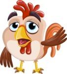 Rooster Cartoon Vector Character AKA Mr. Cock-a-Doodle-Doo - Goddbye