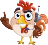 Rooster Cartoon Vector Character AKA Mr. Cock-a-Doodle-Doo - Support