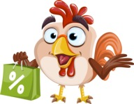 Rooster Cartoon Vector Character AKA Mr. Cock-a-Doodle-Doo - Sale