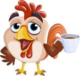 Rooster Cartoon Vector Character AKA Mr. Cock-a-Doodle-Doo - Coffee Mug