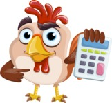 Rooster Cartoon Vector Character AKA Mr. Cock-a-Doodle-Doo - Calculator