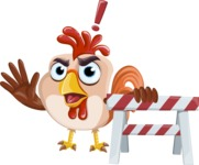 Rooster Cartoon Vector Character AKA Mr. Cock-a-Doodle-Doo - Construction 2