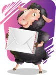 Black Sheep Cartoon Vector Character - Shape 11