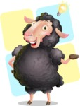 Black Sheep Cartoon Vector Character - Shape 12