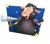 Black Sheep Cartoon Vector Character - Shape 4
