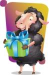 Black Sheep Cartoon Vector Character - Shape 5