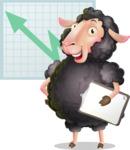 Black Sheep Cartoon Vector Character - Shape 6