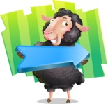 Black Sheep Cartoon Vector Character - Shape 8