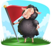 Black Sheep Cartoon Vector Character - Shape 9