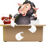 Black Sheep Cartoon Vector Character - Stressed out