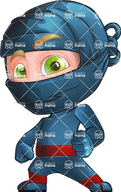 Ninja Warrior Cartoon Vector Character AKA Toshi - Normal