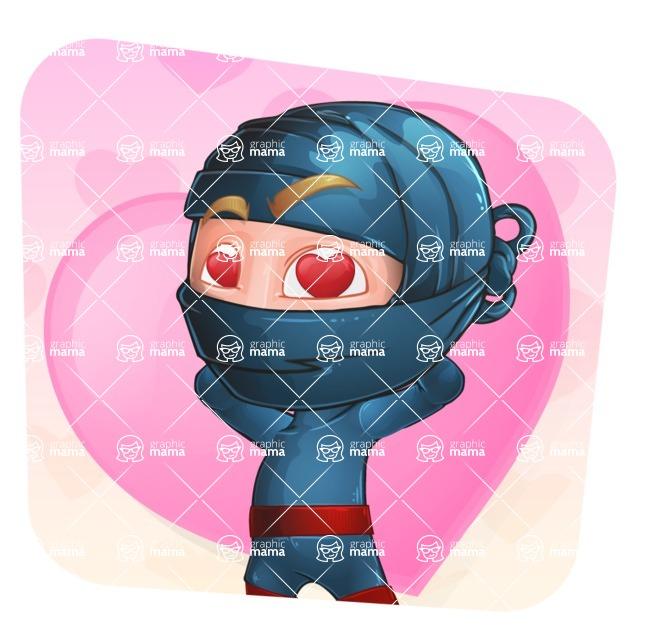 Ninja Warrior Cartoon Vector Character AKA Toshi - Shape 3