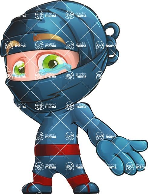 Ninja Warrior Cartoon Vector Character AKA Toshi - Sorry
