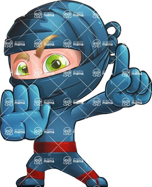 Ninja Warrior Cartoon Vector Character AKA Toshi - Stop 2
