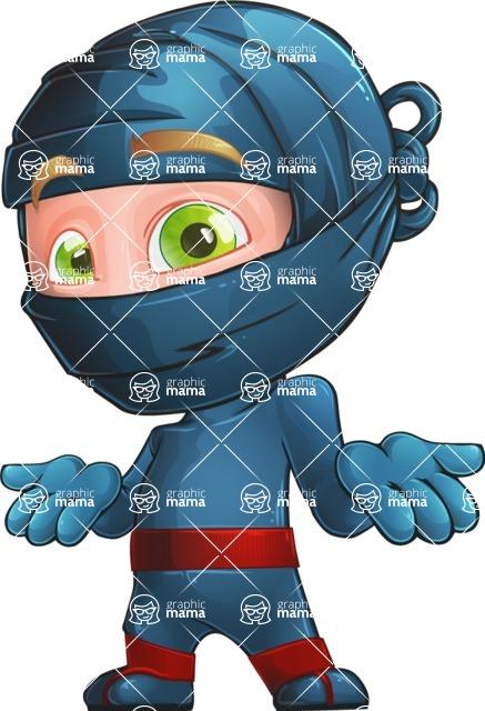 Ninja Warrior Cartoon Vector Character AKA Toshi - Lost
