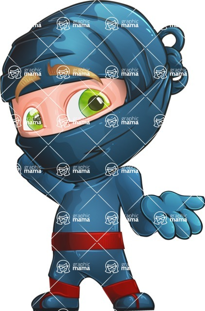 Ninja Warrior Cartoon Vector Character AKA Toshi - Oops