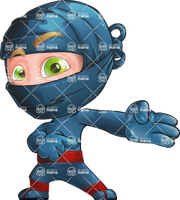 Ninja Warrior Cartoon Vector Character AKA Toshi - Showcase 1