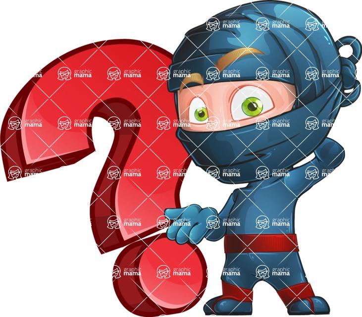 Ninja Warrior Cartoon Vector Character AKA Toshi - Question