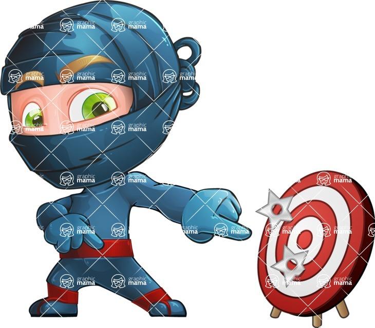 Ninja Warrior Cartoon Vector Character AKA Toshi - Target