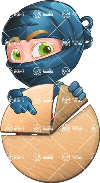 Ninja Warrior Cartoon Vector Character AKA Toshi - Chart