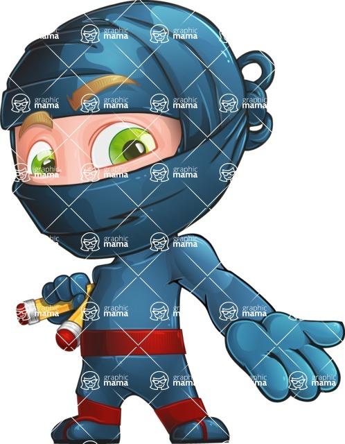 Ninja Warrior Cartoon Vector Character AKA Toshi - Showcase 2