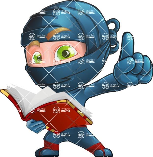 Ninja Warrior Cartoon Vector Character AKA Toshi - Book