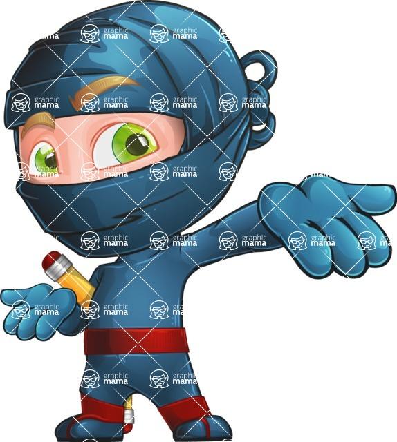 Ninja Warrior Cartoon Vector Character AKA Toshi - Show 1