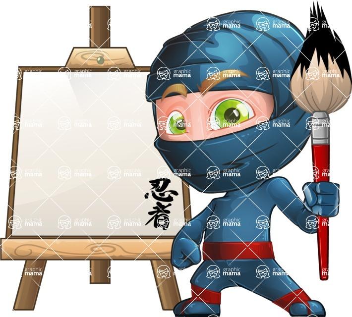Ninja Warrior Cartoon Vector Character AKA Toshi - Artist