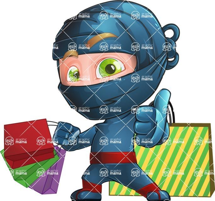 Ninja Warrior Cartoon Vector Character AKA Toshi - Sale 2