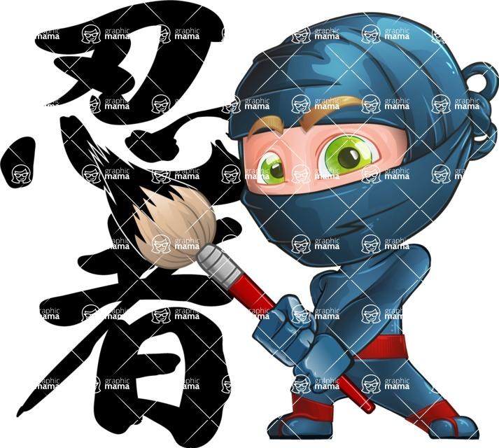 Ninja Warrior Cartoon Vector Character AKA Toshi - Creativity