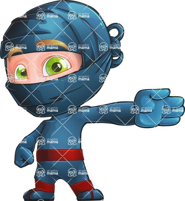 Ninja Warrior Cartoon Vector Character AKA Toshi - Show 2