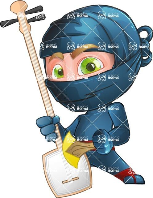 Ninja Warrior Cartoon Vector Character AKA Toshi - Music
