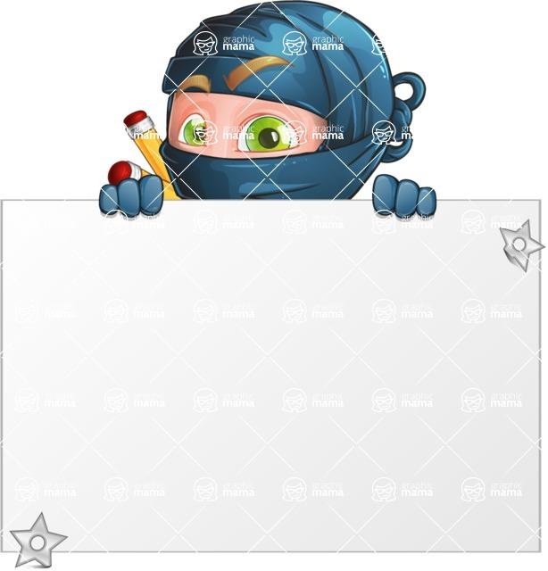 Ninja Warrior Cartoon Vector Character AKA Toshi - Presentation 1