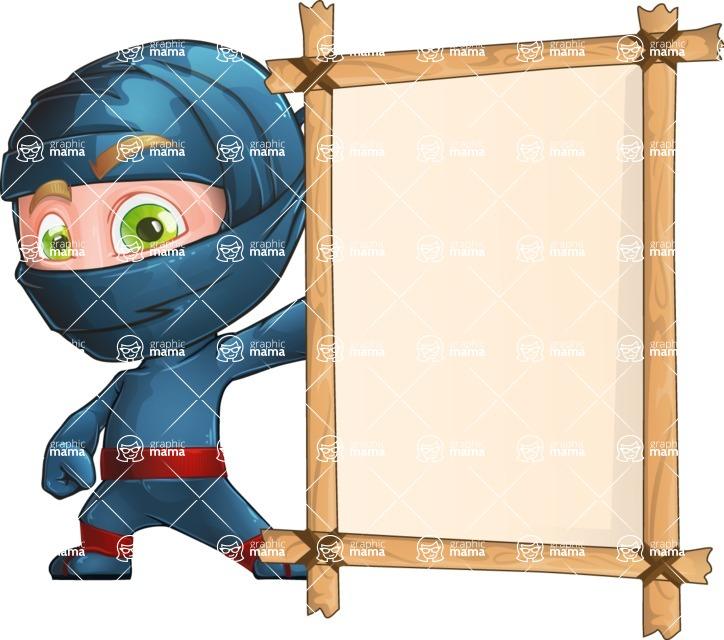 Ninja Warrior Cartoon Vector Character AKA Toshi - Presentation 4